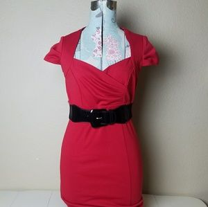 Maurices Knockout Red Dress with Belt
